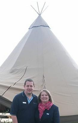 Craig and Jodie from Sam Tipi Events