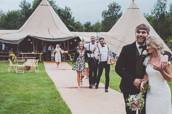 Emma & Glenn Tipi Wedding clients image