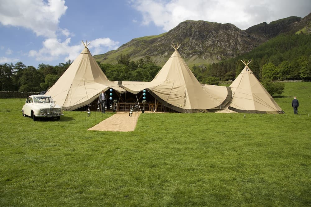 Emma and Rich Sami Tipi wedding in Cumbria