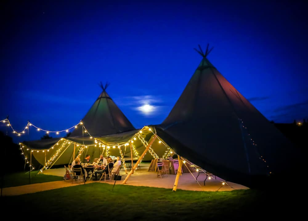 Kat and Ben's Home Tipi Wedding