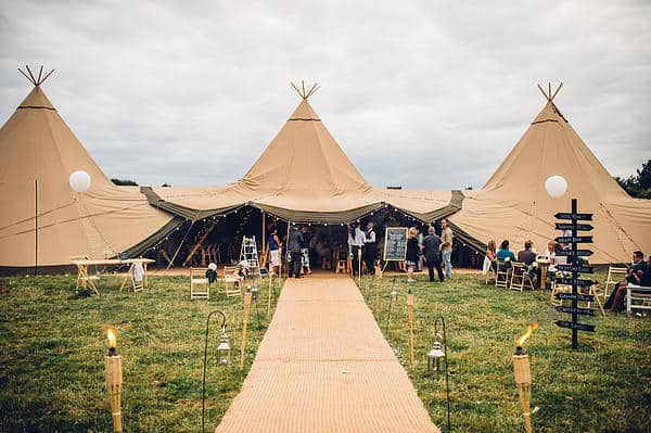 Mark and Chris Tipi Wedding