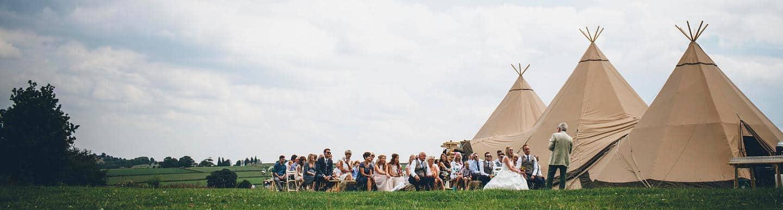 Claire and Neil Sami Tipi Wedding header image