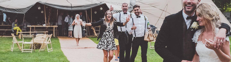 Emma & Glenn Tipi Wedding header image