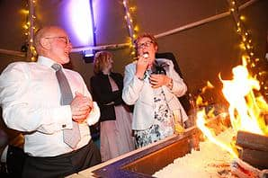 Emma & Rich Sami Tipi wedding firepit image