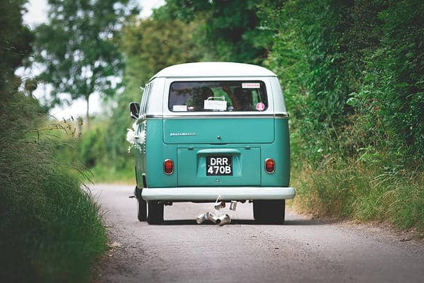 Gemma and Alex Sami Tipi wedding car image