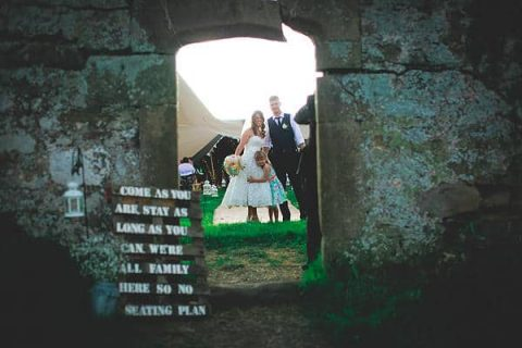 Gemma and Alex Sami Tipi wedding doorway image