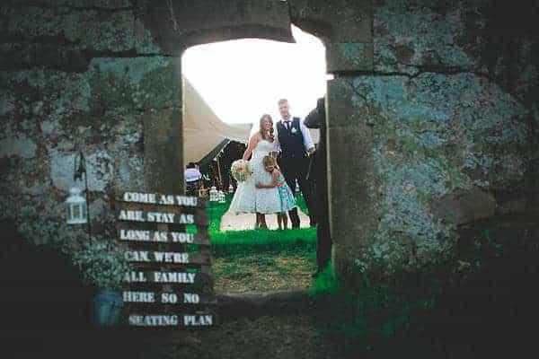 Gemma and Alex Sami Tipi wedding doorway image