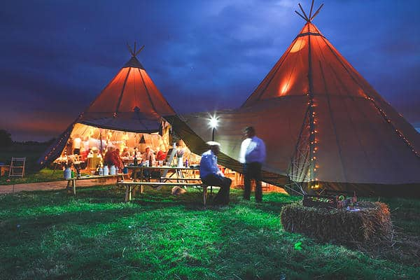 Gemma and Alex Sami Tipi wedding evening image