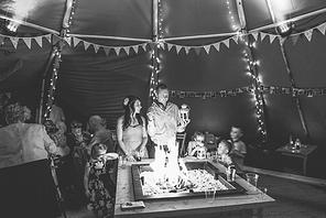 Gemma and Alex Sami Tipi wedding fire image