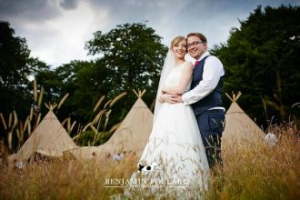 Julia & David Sami Tipi Wedding at Meynell Langley, Derbyshire