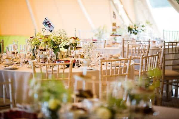 Lucy and Johnny Sami Tipi wedding table image