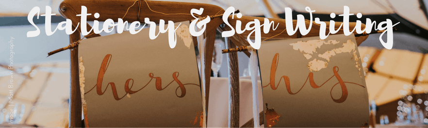Wedding stationery and sign writing for your sami tipi wedding