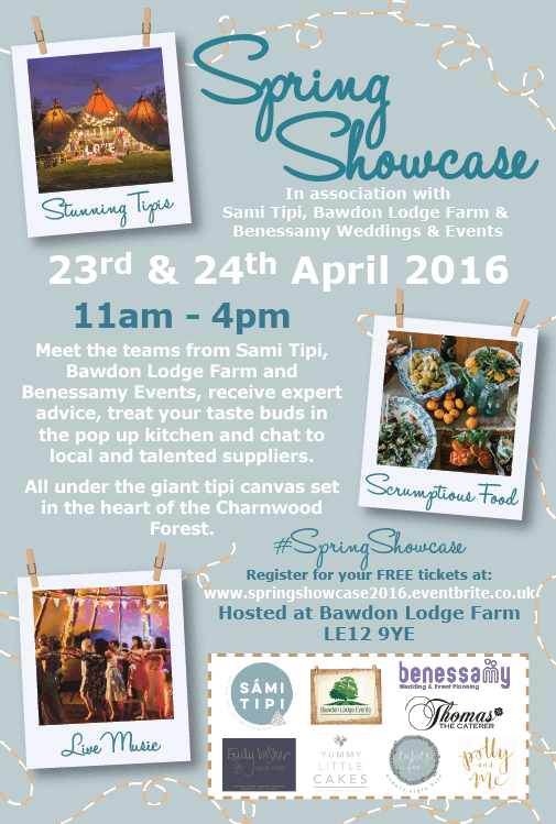 Sami Tipi Spring showcase 23rd & 24th April 2016