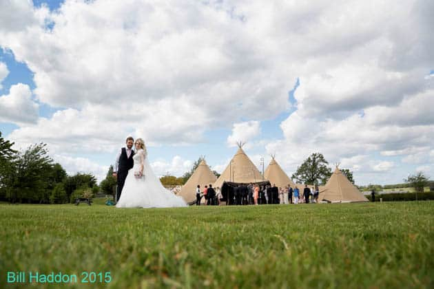 Donna & Kyen Sami Tipi Wedding at Bawdon Lodge Farm