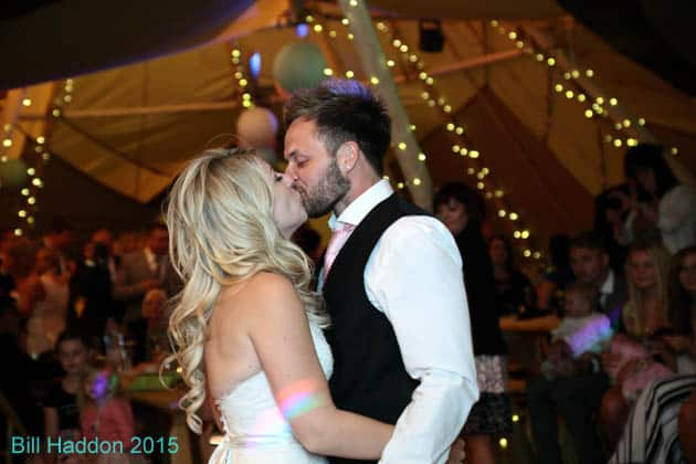 Sami Tipi Wedding Donna & Kyen at Bawdon Lodge Farm - Captured by Bill Hadden