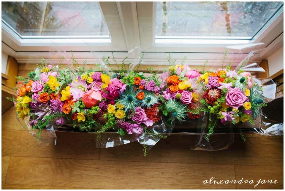 Annabel and Chris Sami Tipi Wedding captured by Alexandra Jane floral delight