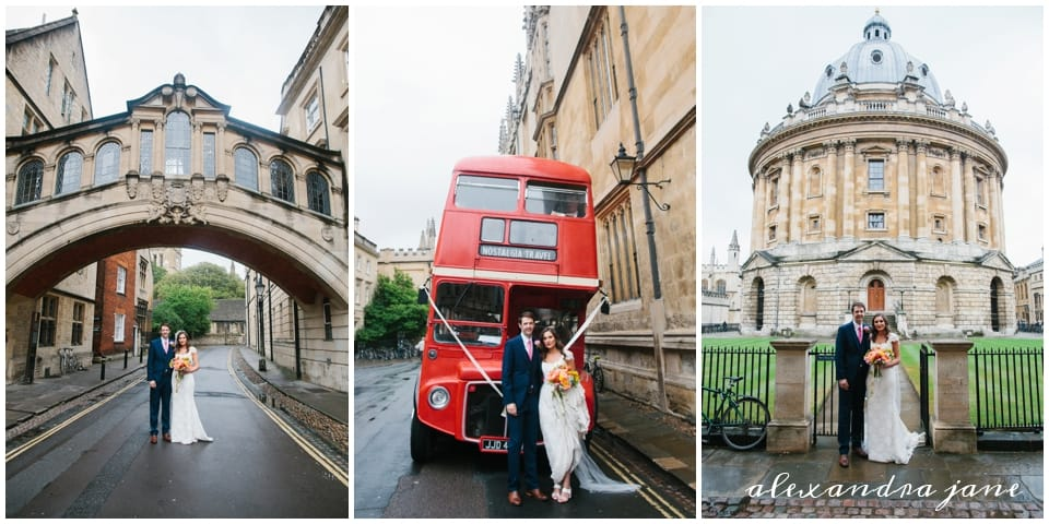 Annabel and Chris with big red bus