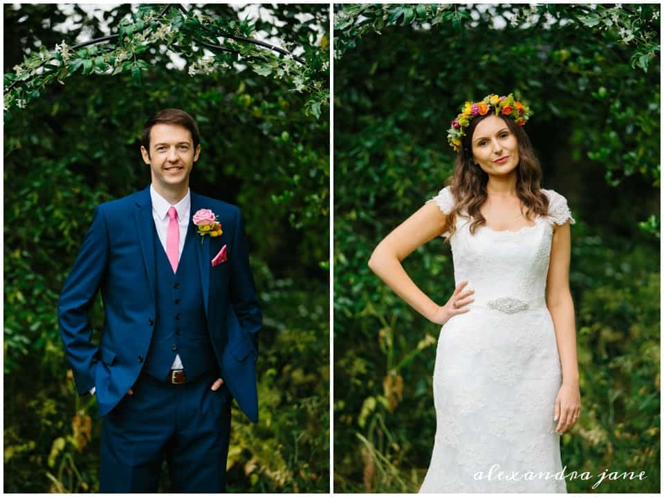 Annabel and Chris Sami Tipi Wedding in the garden