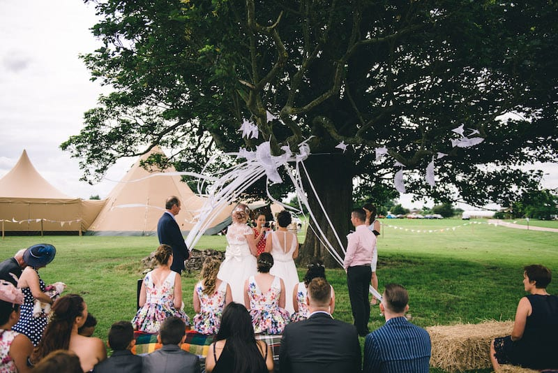 Lisa & Fliss | Sami Tipi Wedding | Cattows Farm | Matt Brown Photography2