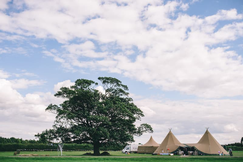 Lisa & Fliss | Sami Tipi Wedding | Cattows Farm | Matt Brown Photography3