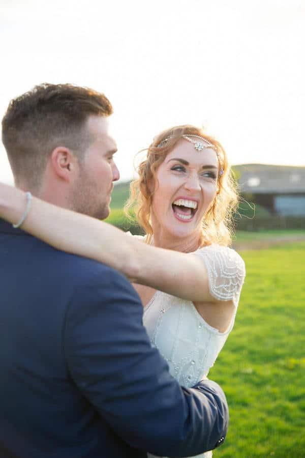 Mike and Siobhan Peak District Farm Wedding with Sami Tipi - Big Smiles
