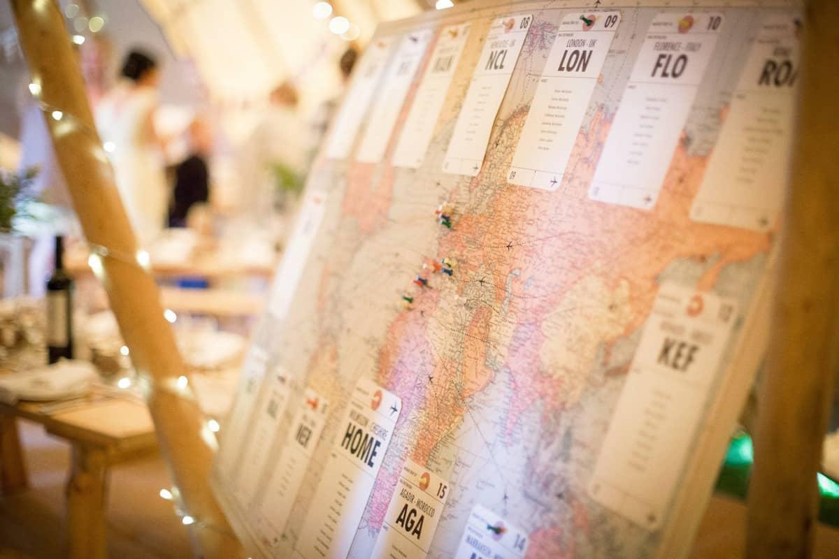 Sami Tipi Wedding World Map Seating Plan
