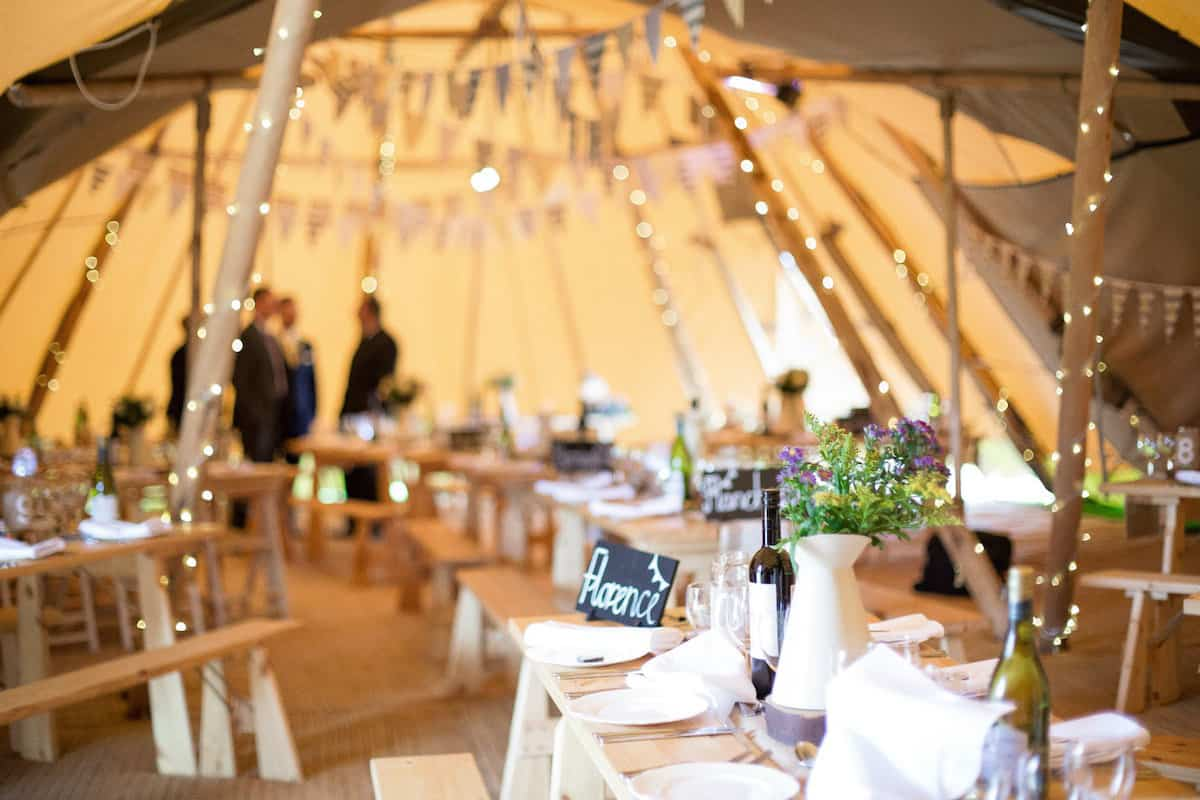 Sami Tipi internal tipi photo with rustic table setting - Captured by Becky Armstrong