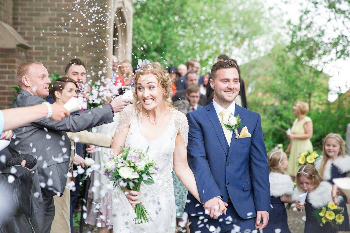 Mike and Siobhan Confetti Throwing - Sami Tipi Wedding