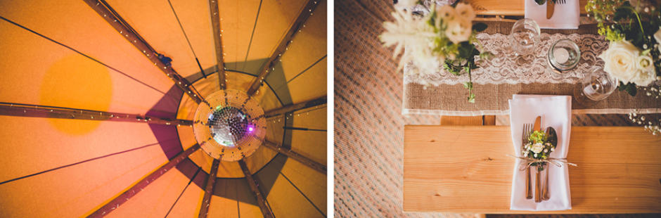 Sami Tipi Wedding Tipi internal image of tipis - captured by Amy Shore Photography