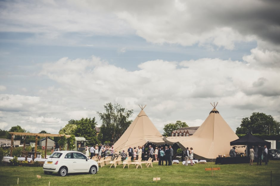 Sami Tipi Wedding - Two Giant Hat Tipis captured by Amy Shore Photography