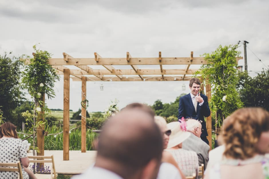 Sami Tipi Wedding - out door ceremony captured by Amy Shore Photography