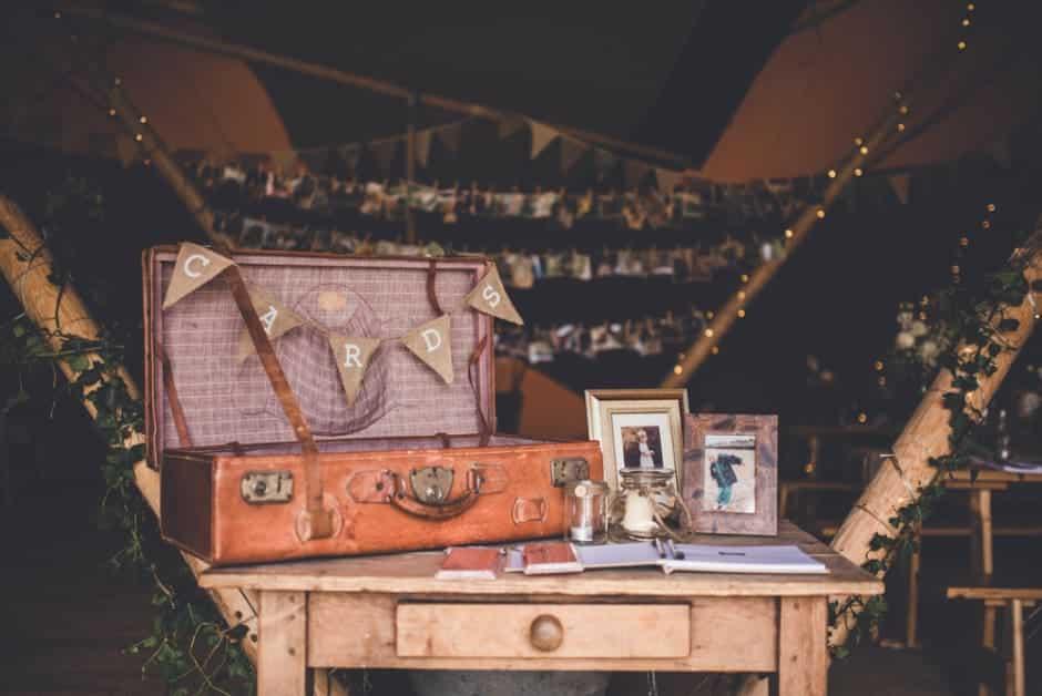 Sami Tipi Wedding Vintage Styling - captured by Amy Shore Photography