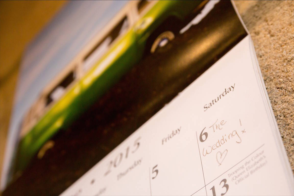 Wedding Day on Calendar