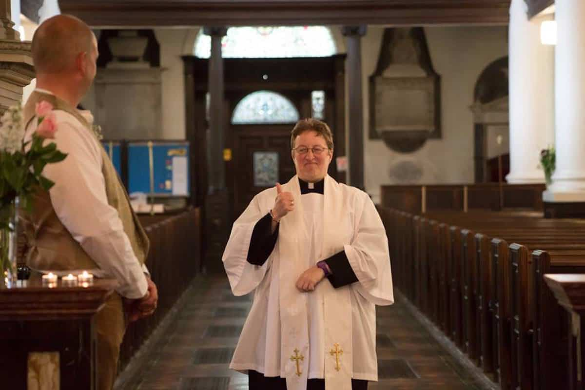 Thumbs up from the vicar