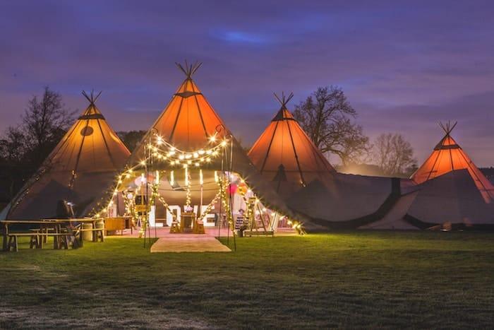 Sami Tipi Wedding by night