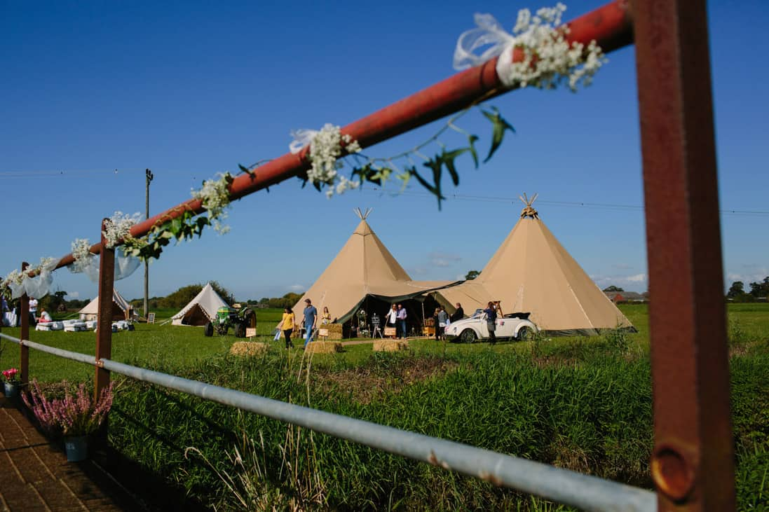 Sami Tipi Wedding At Cuttle Brook Swarkestone Derbyshire