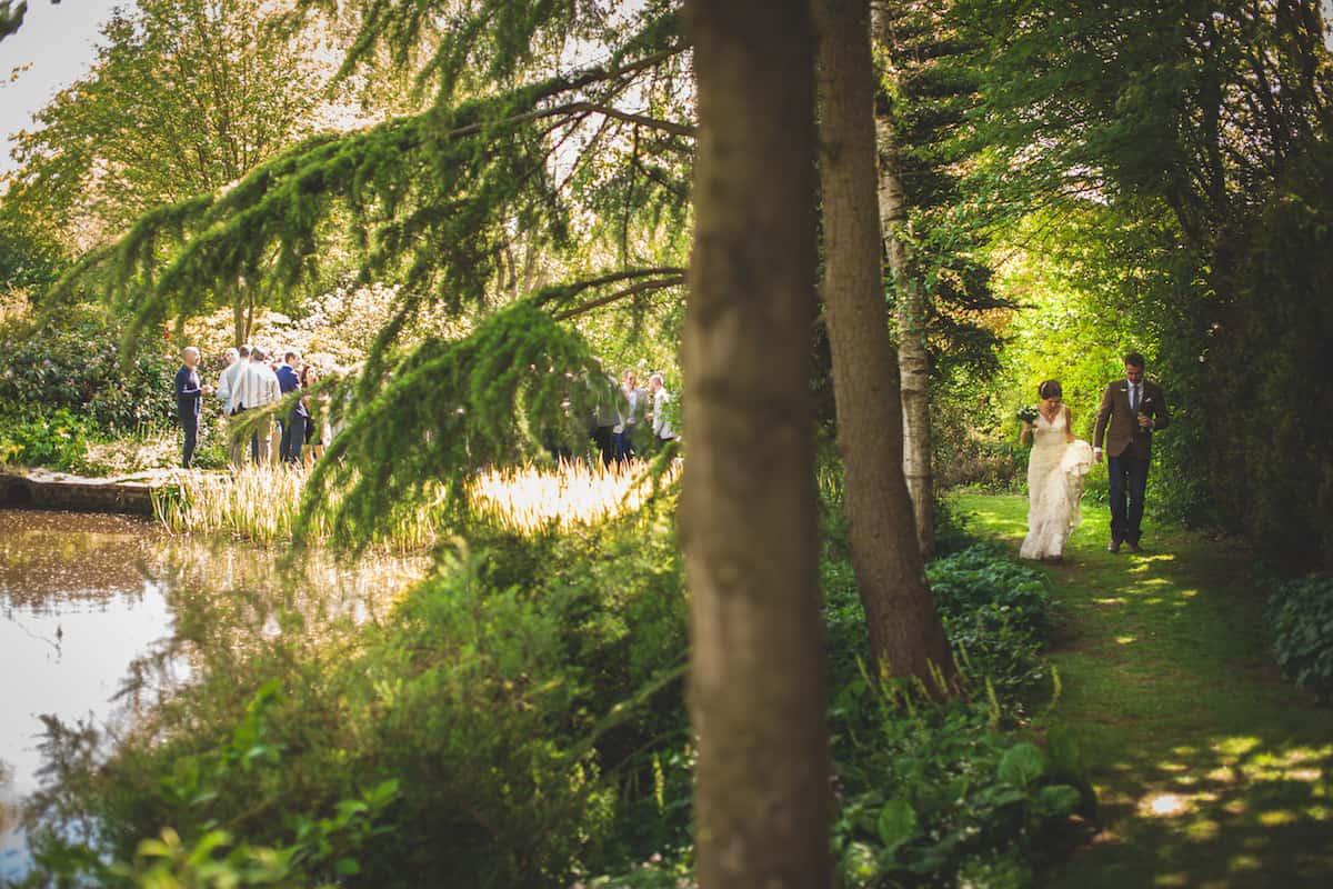 married - outdoor wedding ceremony