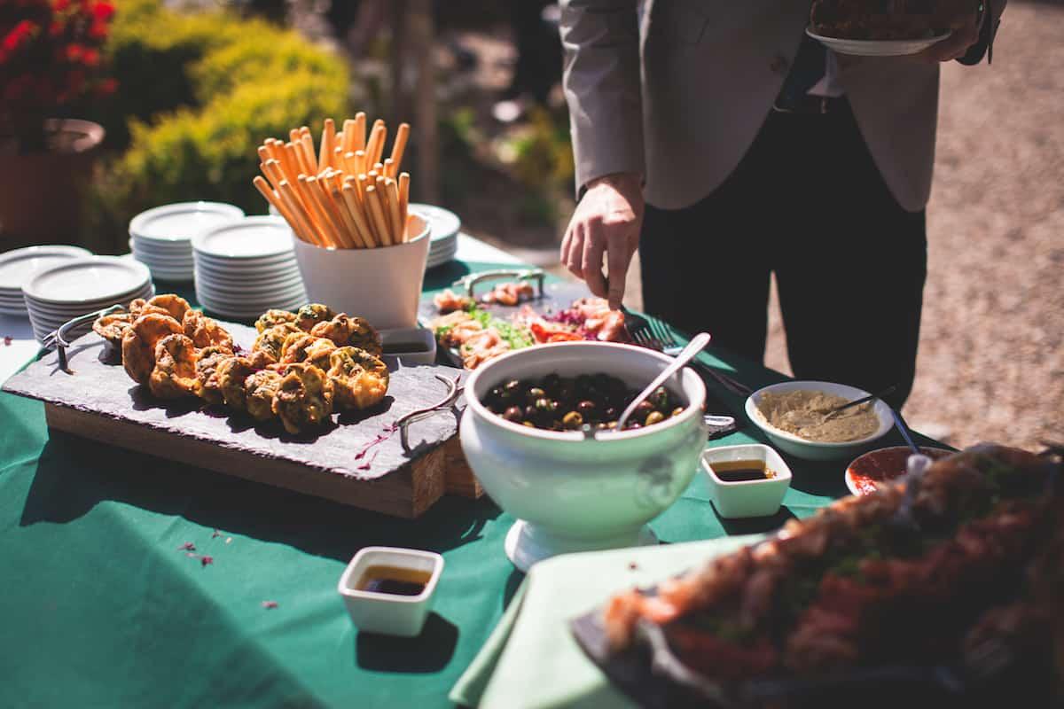 Wedding food by butlers pantry