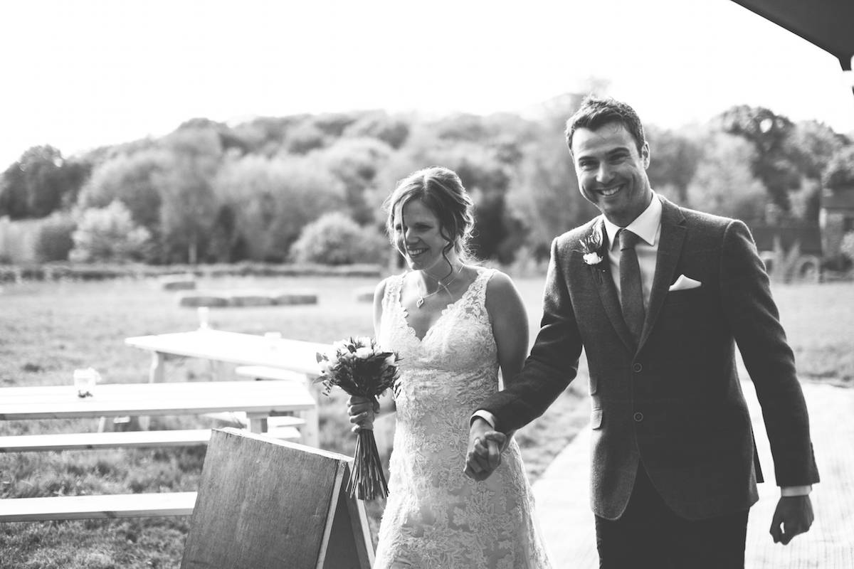 Introducing Mr and Mrs - Tipi wedding