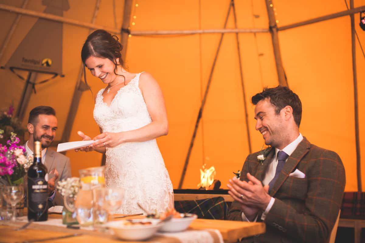 Tipi wedding Speeches