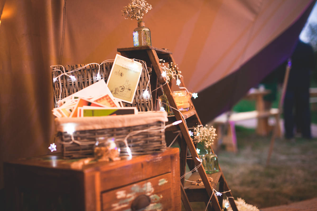 Rustic ladders and tipi styling