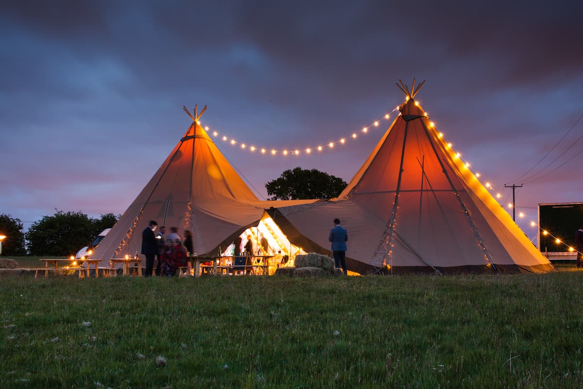 Sami Tipi at Night - image by Christopher Terry