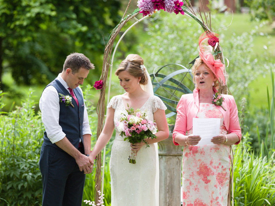Outdoor wedding ceremony at Bodenham Arboretum