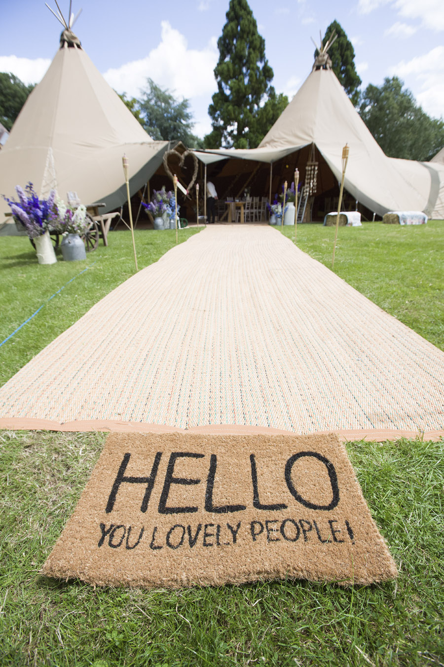 Tipis ready for Bodenham Arboretum Teepee Wedding by Sami tipi