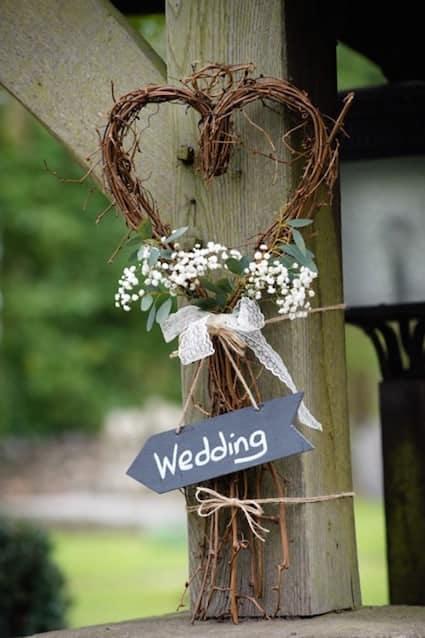 Sami Tipi wedding - Rustic wedding sign