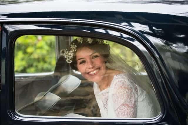 Sami Tipi wedding - Arriving at church
