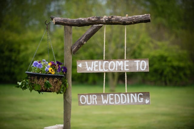 "Sami Tipi wedding rustic home made wedding sign ""welcome to our wedding"""