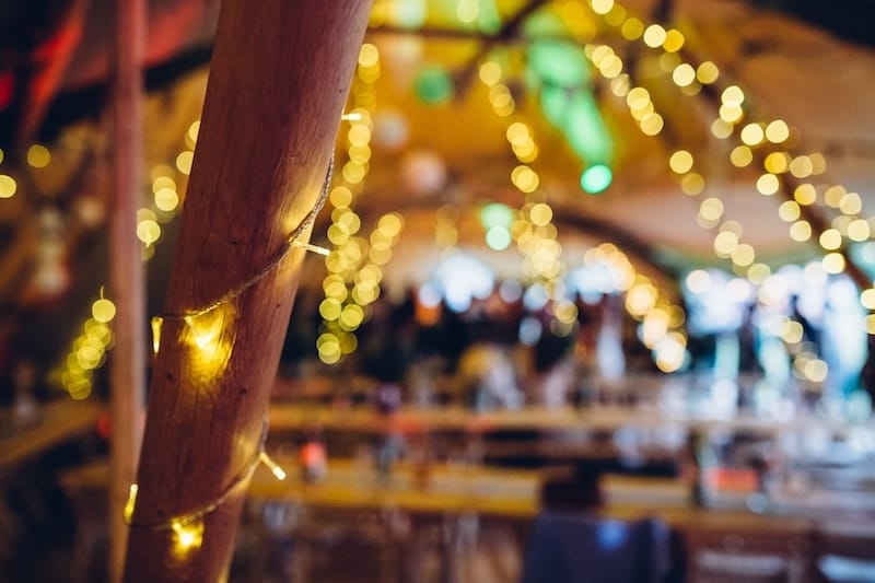 9 Pole set of fairy lights Available to hire from Sami Tipi