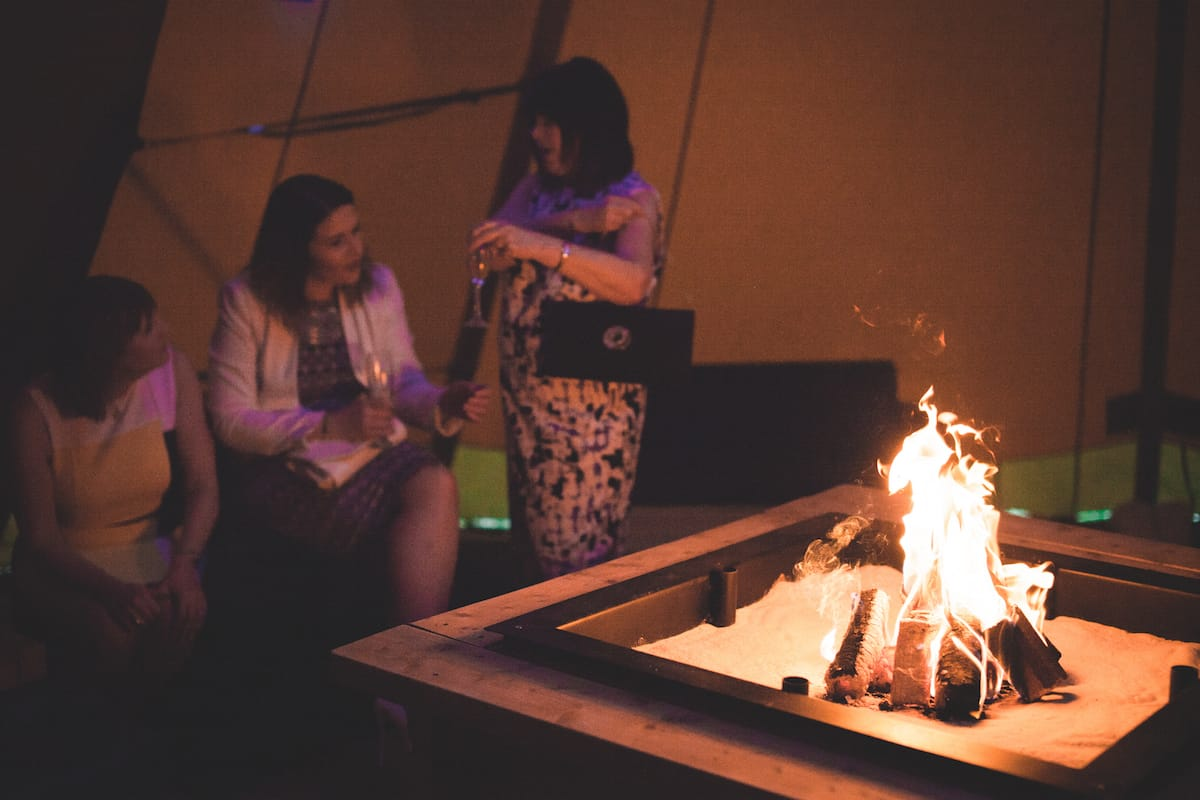 Sami Tipi Fire Place - Sami Tipi Starlight Social captured by Christopher Terry