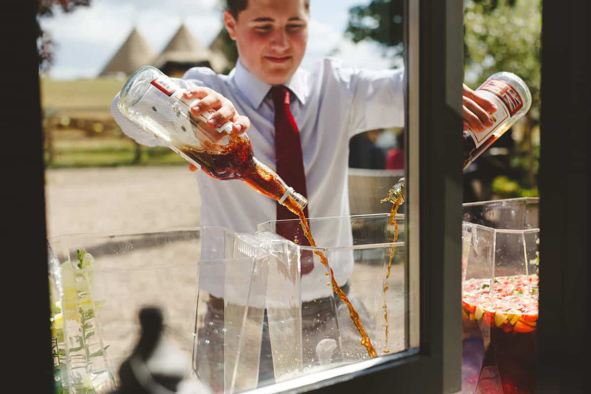 Pimms welcome drink - Sami Tipi Wedding Captured by Camera Hannah